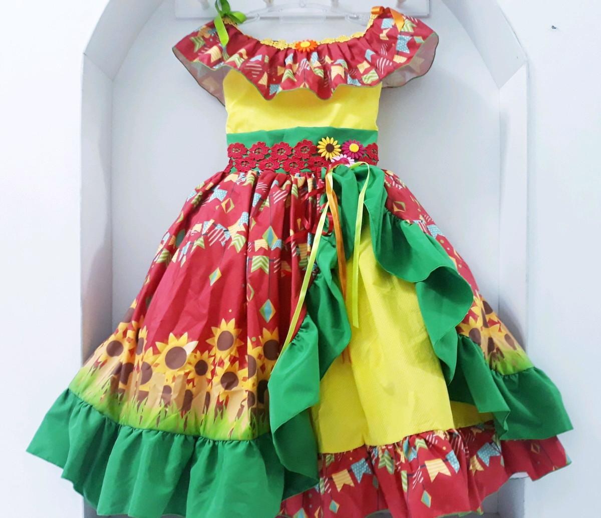 Vestido Girassol super luxo Isadora