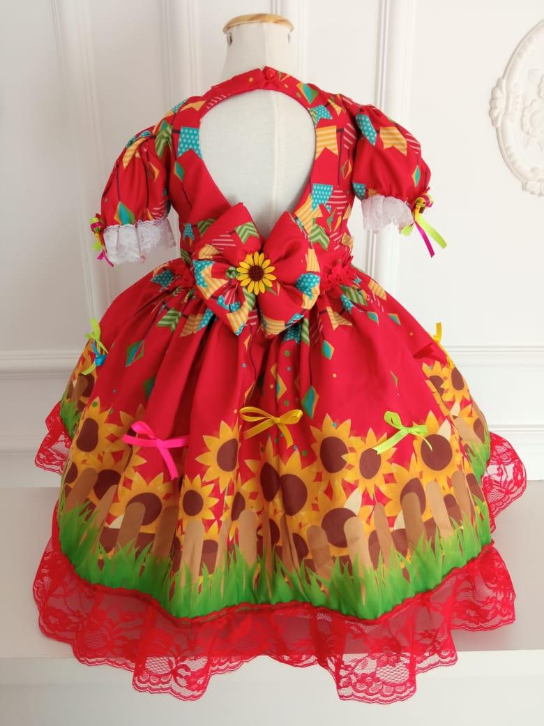 Vestido junino Girassol