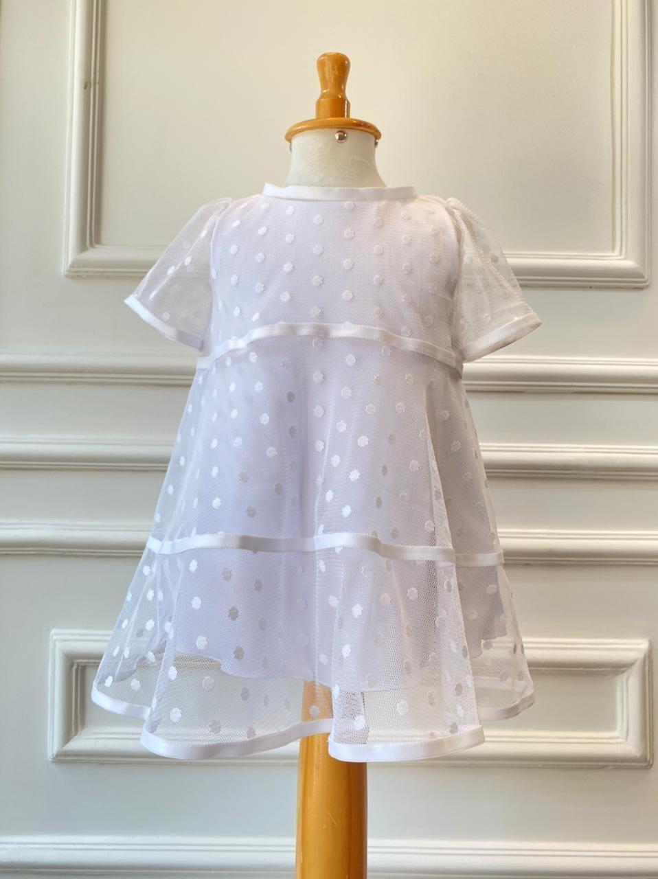 Vestido Poá - Batizado