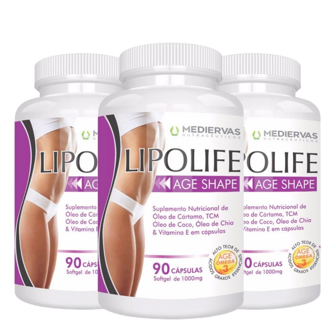 3x Age Shape – 90 cápsulas Softgel 1000mg - Lipolife