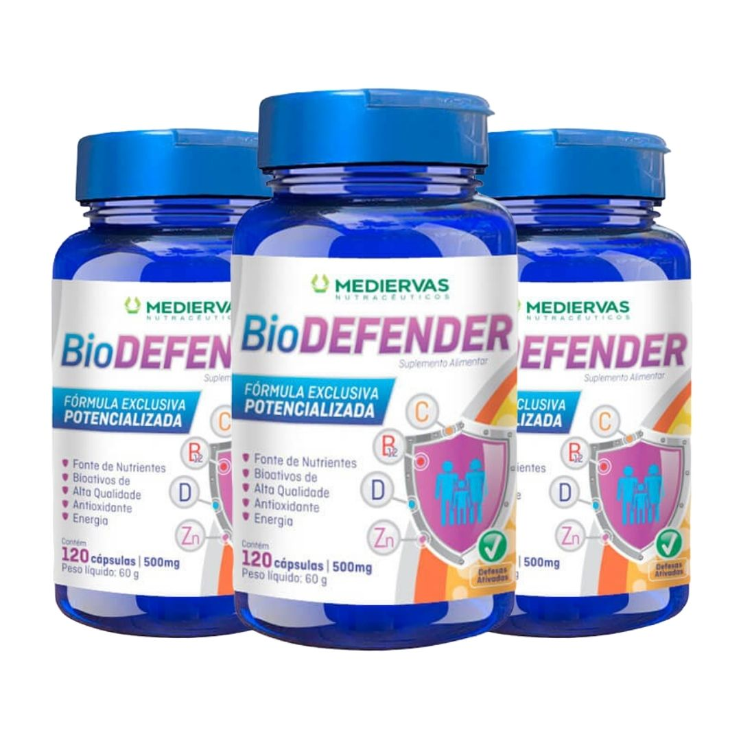 3x BioDEFENDER- 120 cápsulas 500mg - Mediervas