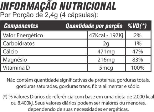 3x Cálcio + Balance com Vitamina D – 60 cápsulas 600mg - Mediervas