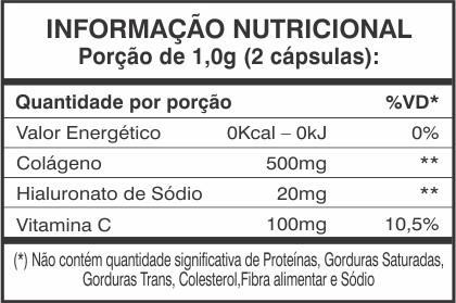 3x Colágeno + Ácido Hialurônico 60 cápsulas  - LIPOLIFE