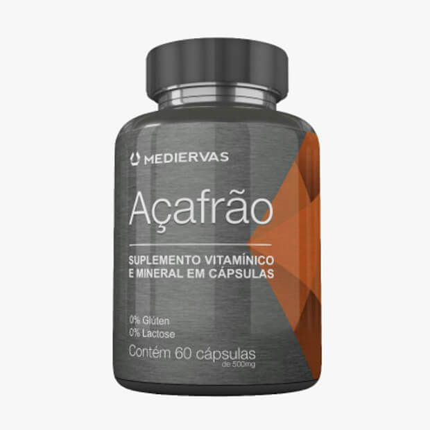 Açafrão 60 cápsulas 500 mg  Mediervas