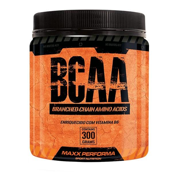 BCAA  300g (em pó) - Enriquecido com Vitamina B6 - Maxx Performa