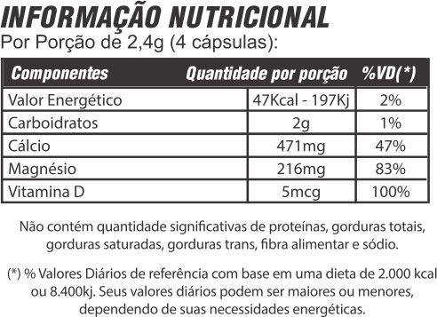 Cálcio + Balance com Vitamina D 60 cápsulas 600mg Mediervas