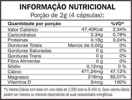 Dolomita + Vitamina D  90 cápsulas 500mg Mediervas