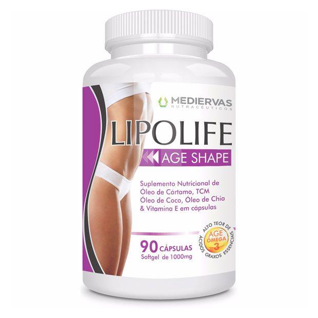 Age Shape  90 cápsulas Softgel 1000mg Lipolife