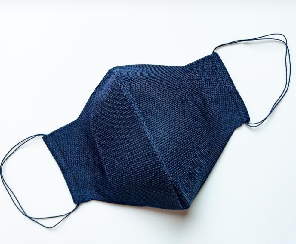 Máscara Anatômica 3D com fio Poliamida - Azul Marinho