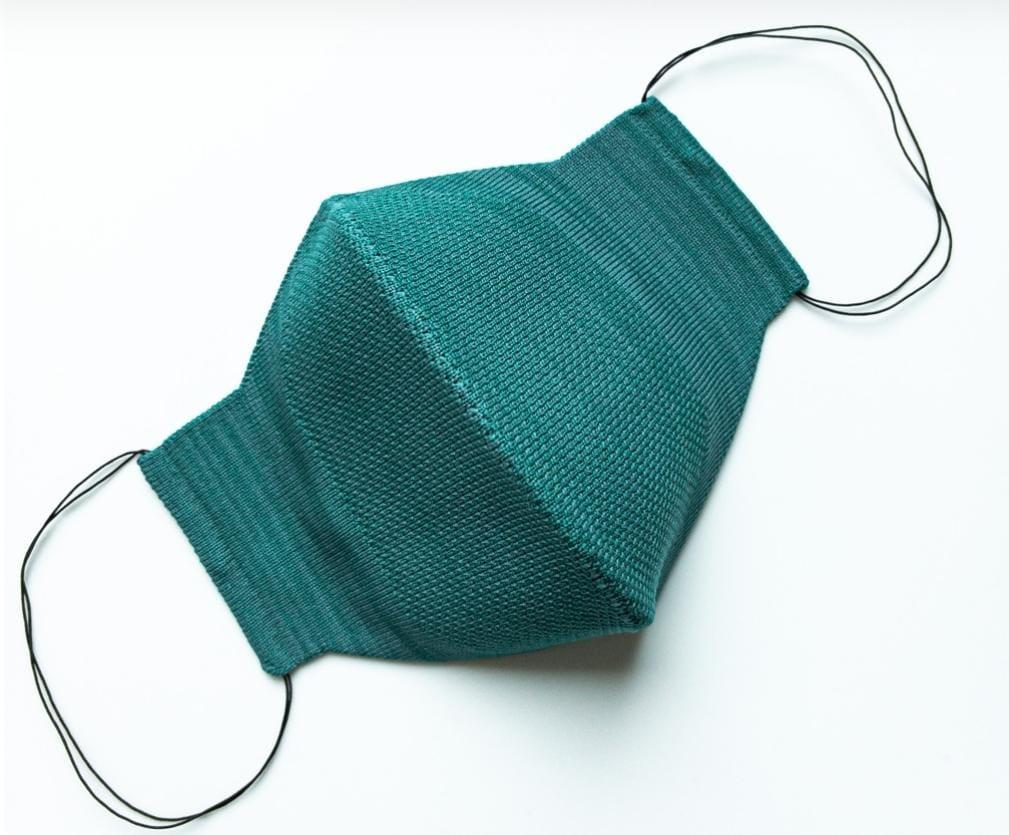 Máscara Anatômica 3D com fio Poliamida - Verde-água