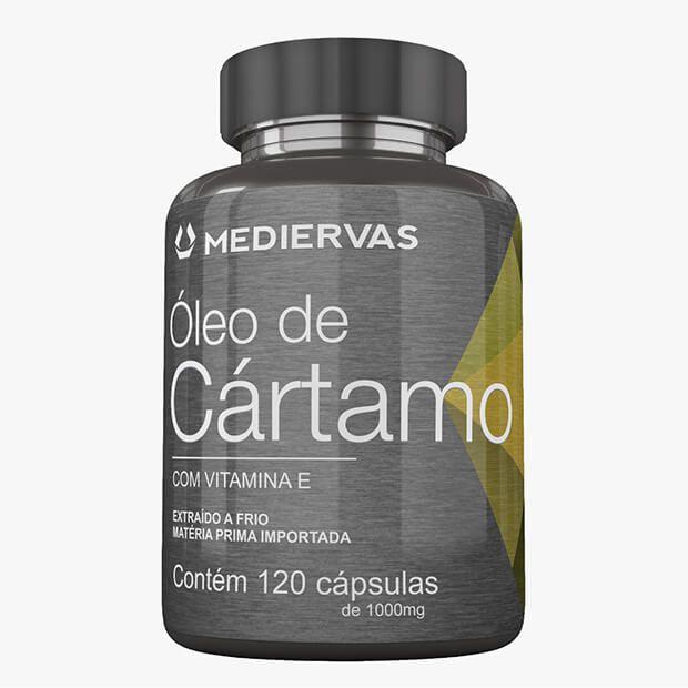 Óleo de Cártamo + Vitamina E 180 cápsulas 1000mg Mediervas