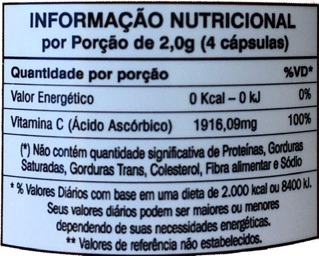 Vitamina C Orthomolecular Nutrition 60 cápsulas veganas 497mg (ácido ascórbico) 100% da I.D.R-Mediervas
