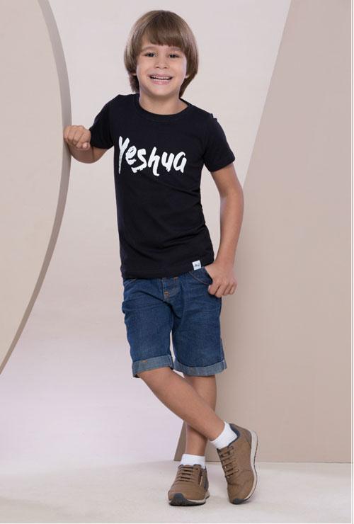 Camiseta Yeshua Preta Infantil