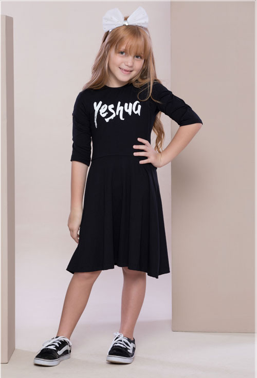 Vestido Yeshua Preto Infantil