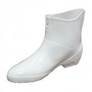 Bota de PVC Pat Sebastiana Cano Curto Branca
