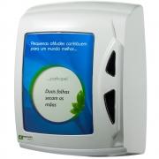 Dispenser de Papel Toalha Capacidade 700 Folhas Branco 1 UN Fortcom