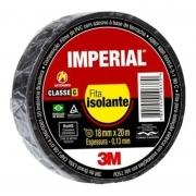 Fita isolante Imperial 18x20mts Preta - 3M