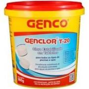 GencoClor – T20 – cloro estabilizado em tabletes – balde com 900 gramas