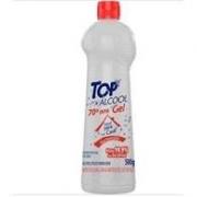 Kit 10 frascos  - Álcool Gel bactericida 70º 500G Top