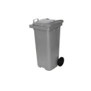 Lixeira Container Com Rodas Cinza 120L