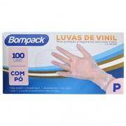 Luva de Vinil sem Pó P CX 100 UN Bompack