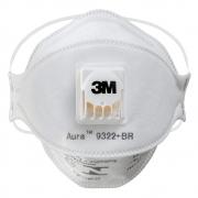 Máscara de Segurança 3M Com Válvula Aura 9322 PFF2