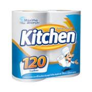 Papel Toalha Branco Kitchen com 2 Unidades