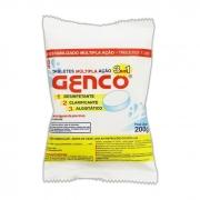 Kit 10 Pacotes De Pastilha de Cloro Aditivado com Clarificante e Algicida 3x1 200g - Genco