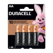 Pilha alcalina pequena AA com 4  - Duracell