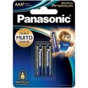 Pilha Panasonic AA Premium cartela com 2