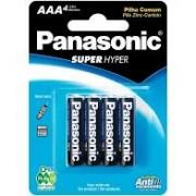 Pilha Panasonic Comum AA cartela com 4