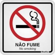 Placa de Alumínio Não Fume 1 UN Sinalize