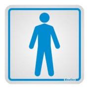 Placa de Alumínio Sanitário Masculino Azul 1 UN Sinalize