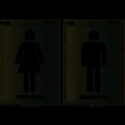 Placa de Sinalização Sanitário Feminino e Masculino 2 UN Pimaco