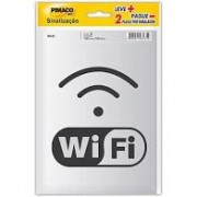 Placa para sinalização 14x19 wi-fi 891735 Pimaco PT 2 UN