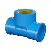 Te Soldável com Bucha de Latão Azul PVC 25mm x 3/4