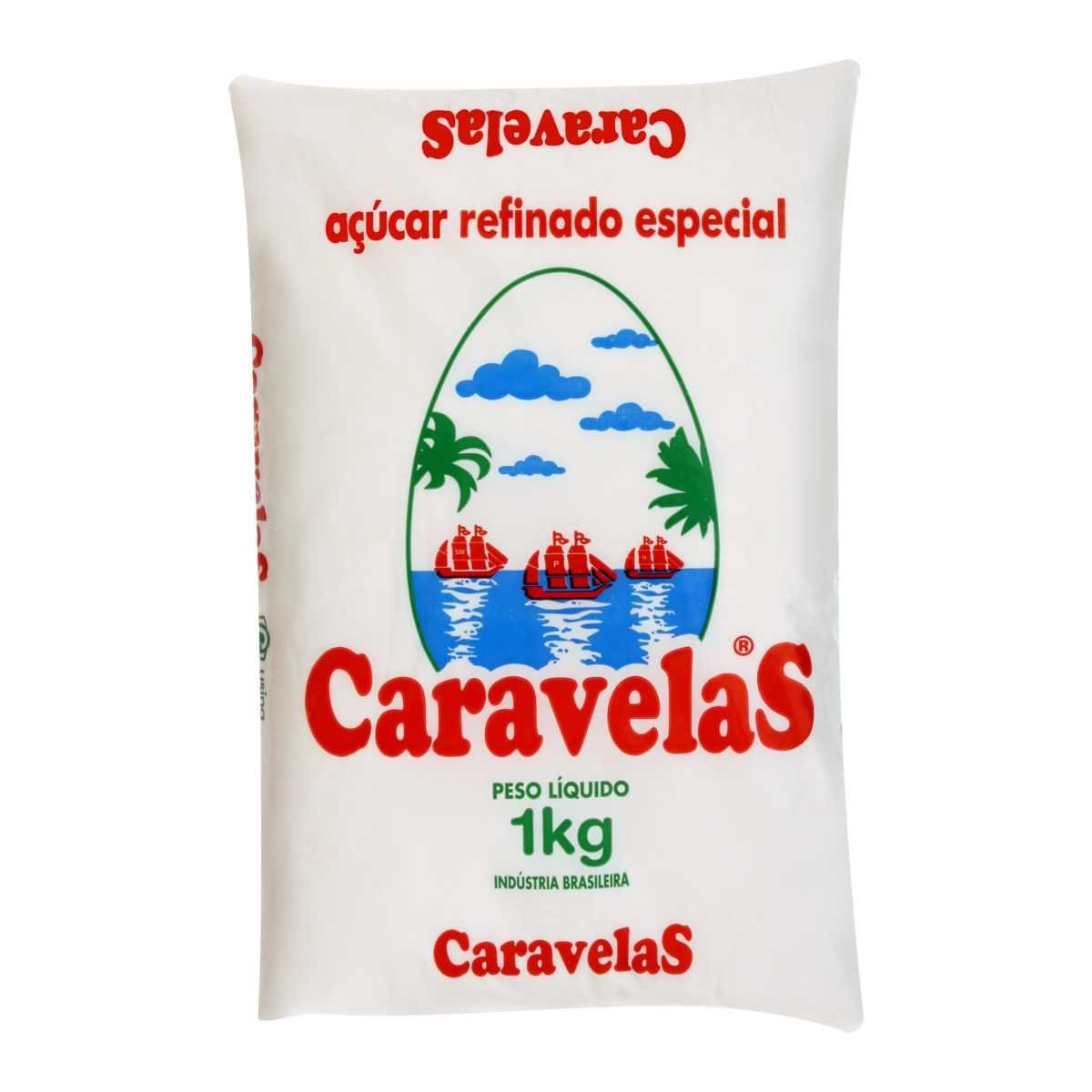 Açucar Refinado Caravelas 1 Kg
