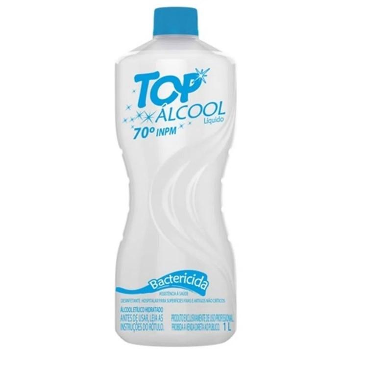 Álcool Líquido 1 Litro 70% Top Álcool Bactericida