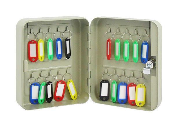 Armário Claviculário Porta Chaves para 20 Chaveiros com Chave Western CL-20
