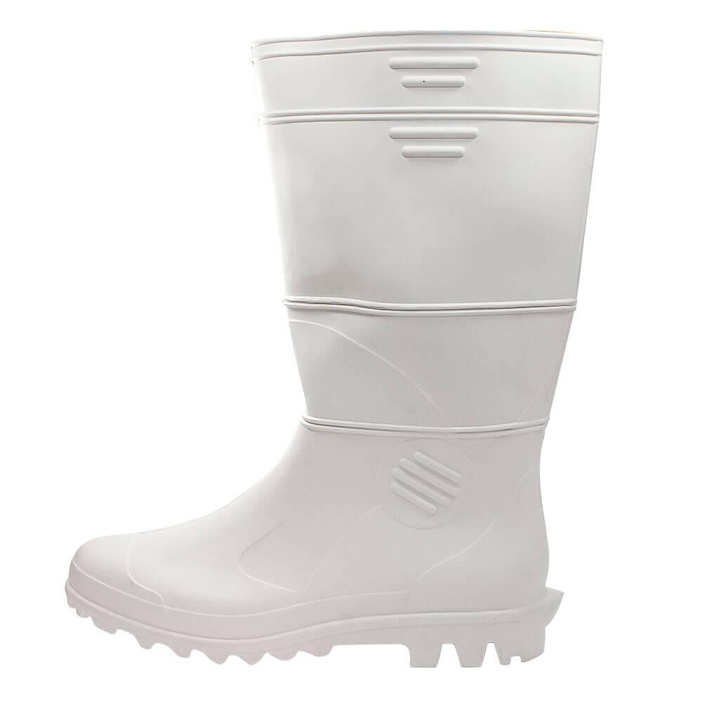 Bota de PVC Patrol Cano Longo Branca