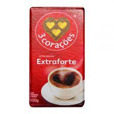 Café em pó 3 corações  - Extra Forte - 500 gramas