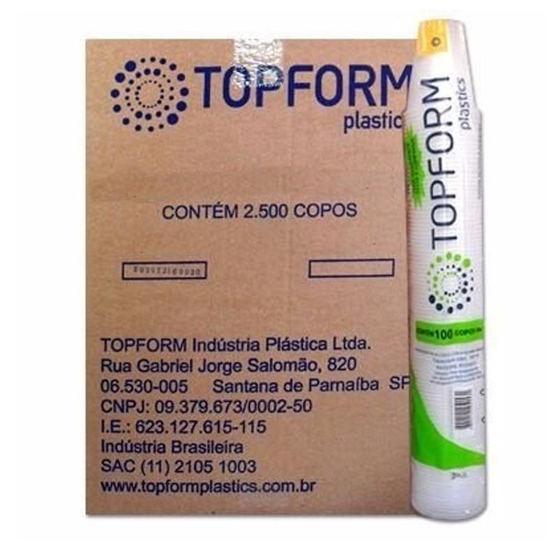 Caixa copo descartável 180 ml com 2500 unidades - Topform