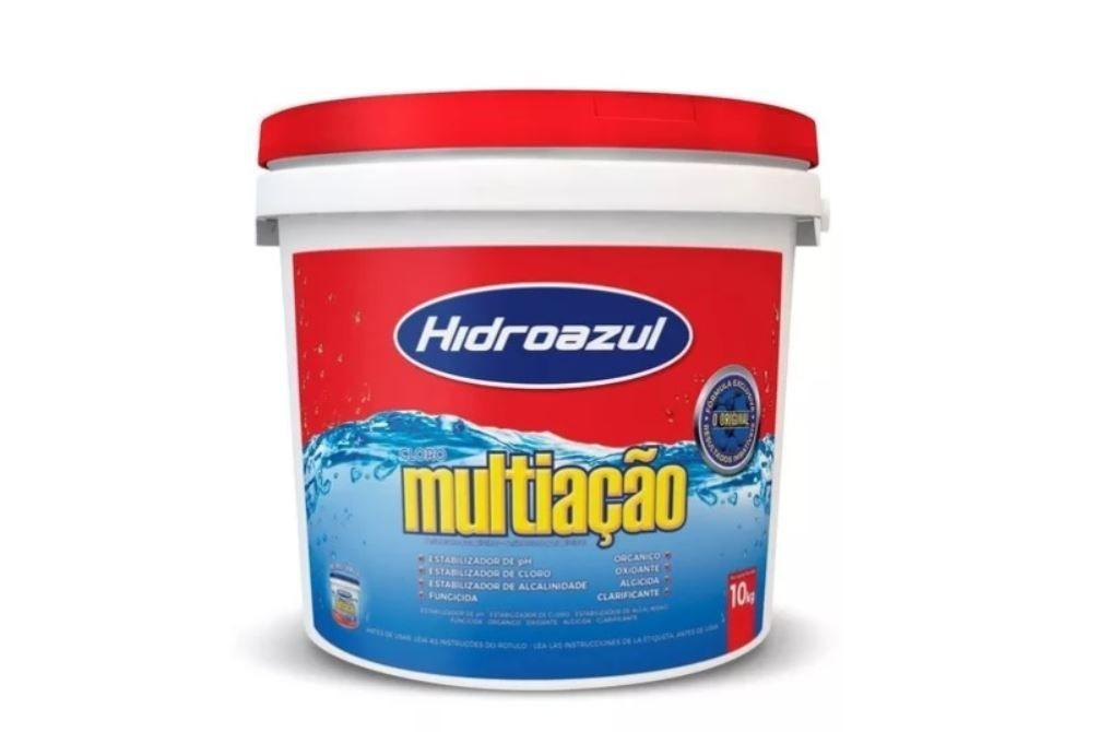 Cloro Granulado Estabilizado Multiação Balde 10Kg Hidroazul