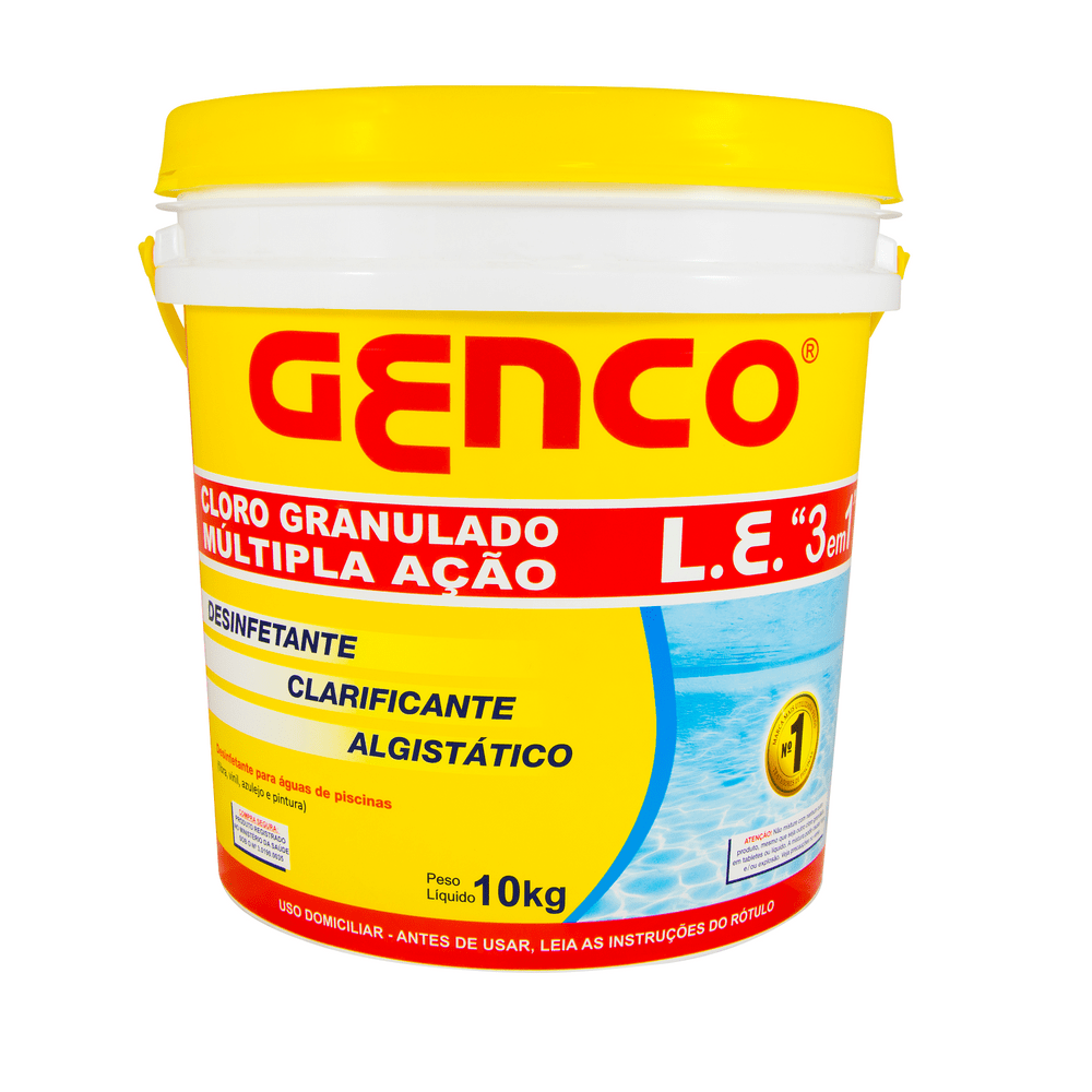 Cloro Granulado Genco L.E Mult 3x1 - 10 Kg