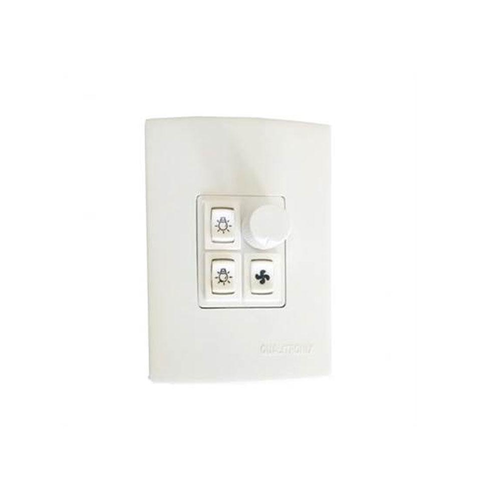 Controle Rotativo para Ventilador e Lâmpada com Placa - Qualitronix