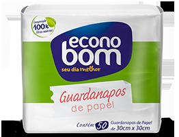 Guardanapos de papel com 50 unidades (30cm x 30cm)