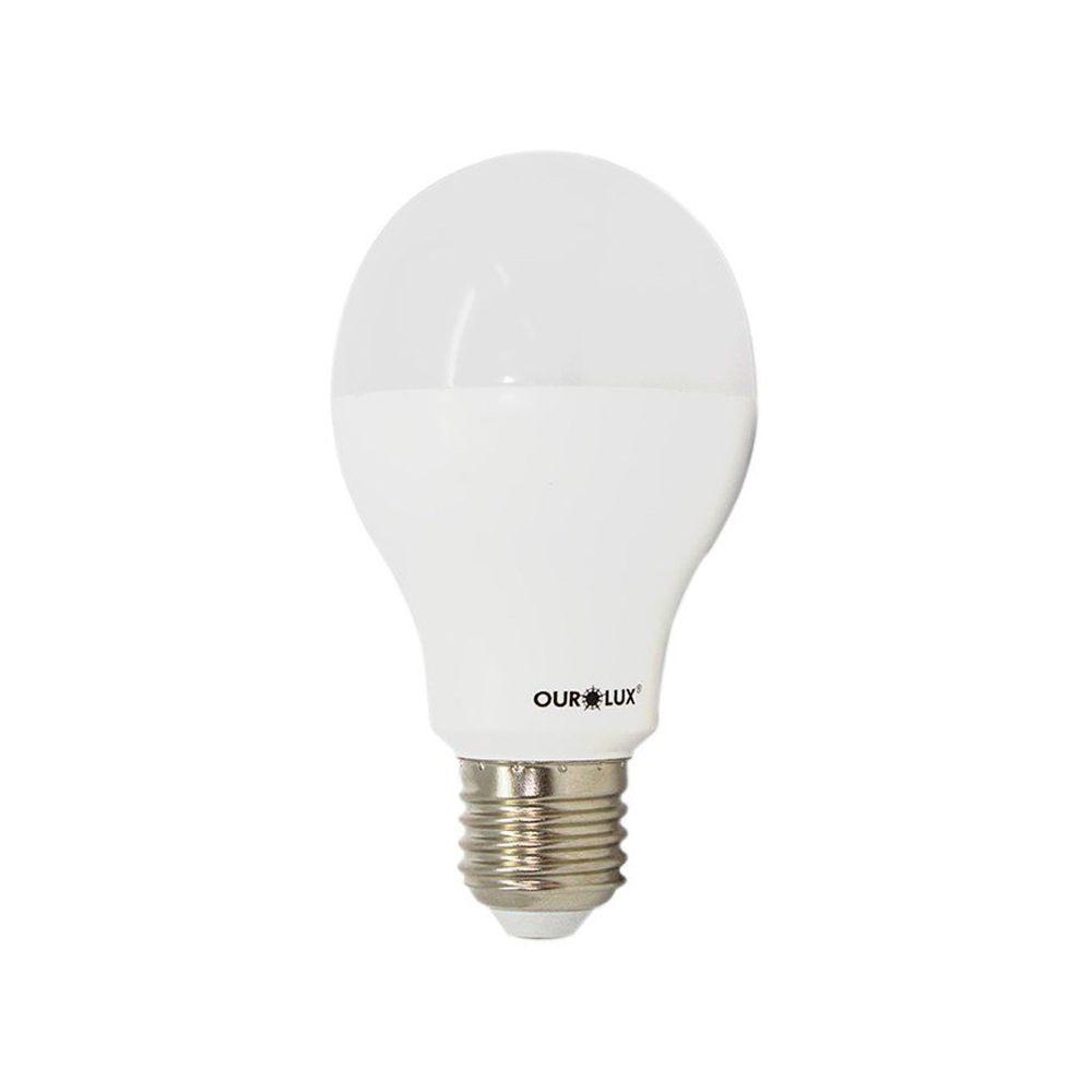 Lâmpada Led Bulbo 12W Bivolt Luz Branca - Ourolux