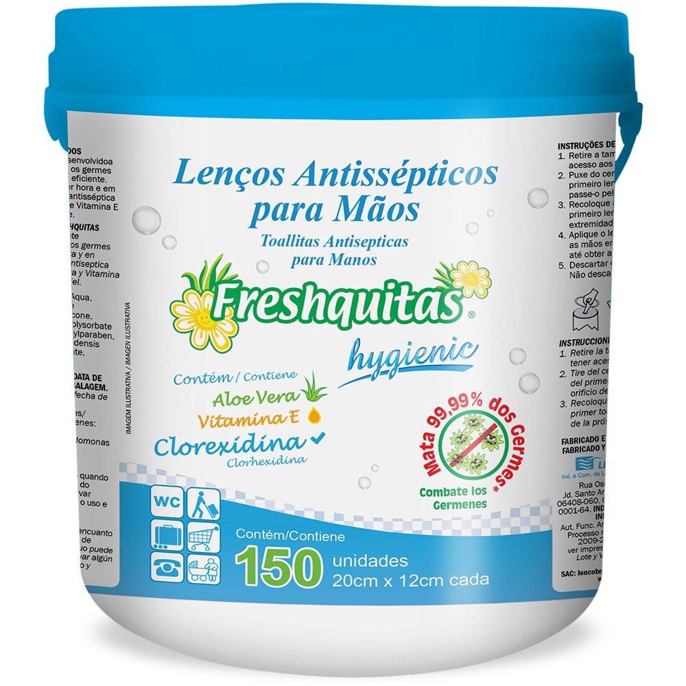Lenço umedecido antisséptico Freshquitas C150 Pam Pam PO 150 UNIDADES
