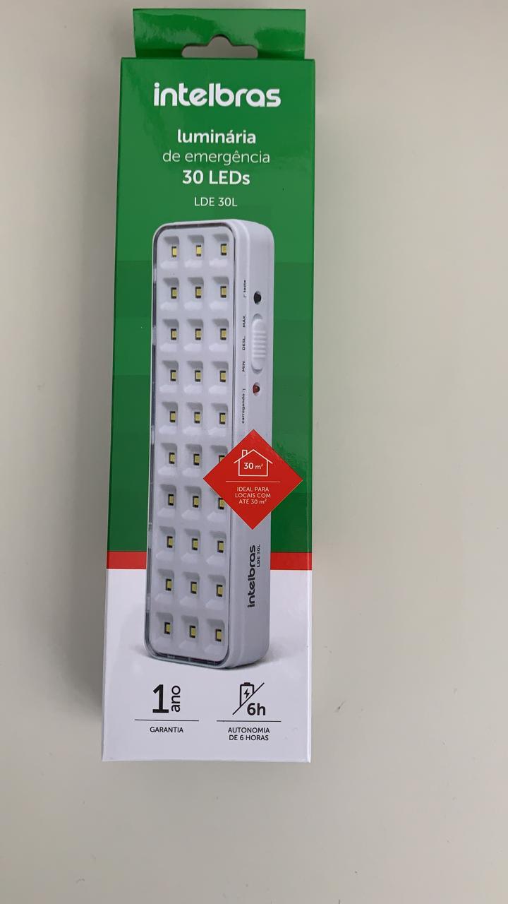 Luminária de emergência Intelbras - LDE 30L