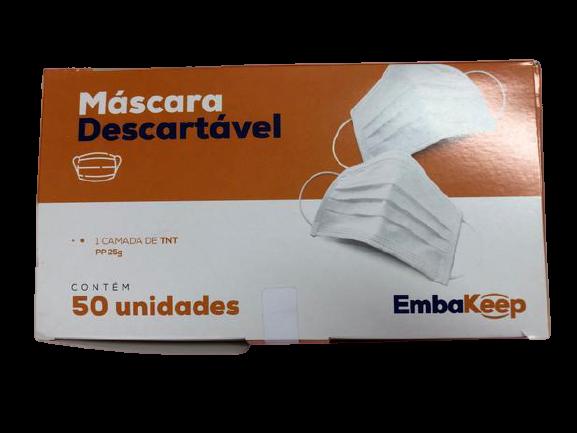 Mascára de proteção descartável - 50 unidades -EmbaKeep
